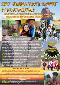 Annual Global Yth Summit Kilimanjaro 2017